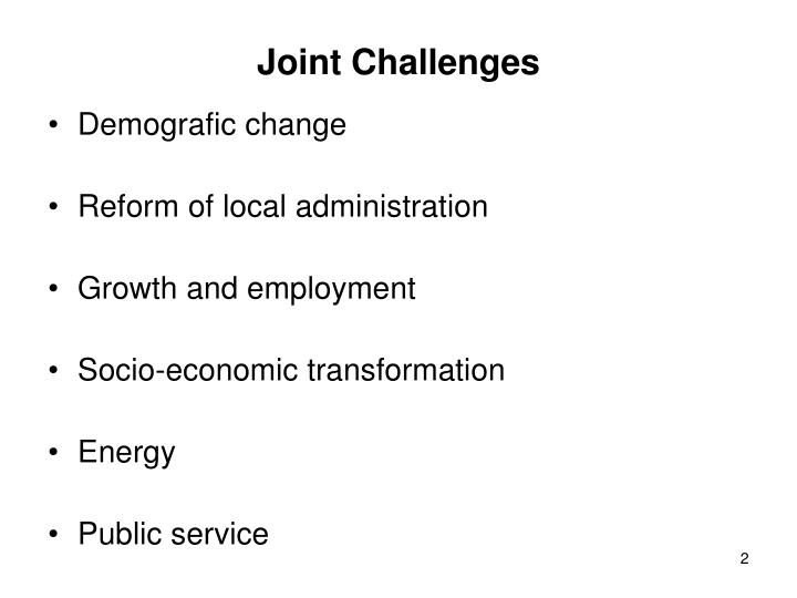 Joint Challenges
