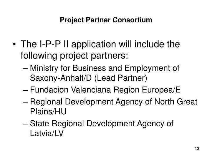 Project Partner Consortium