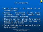 ects students