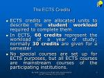 the ects credits