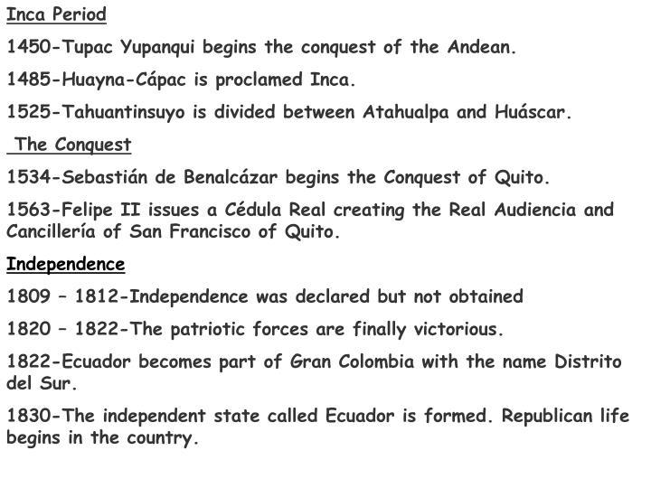 Inca Period