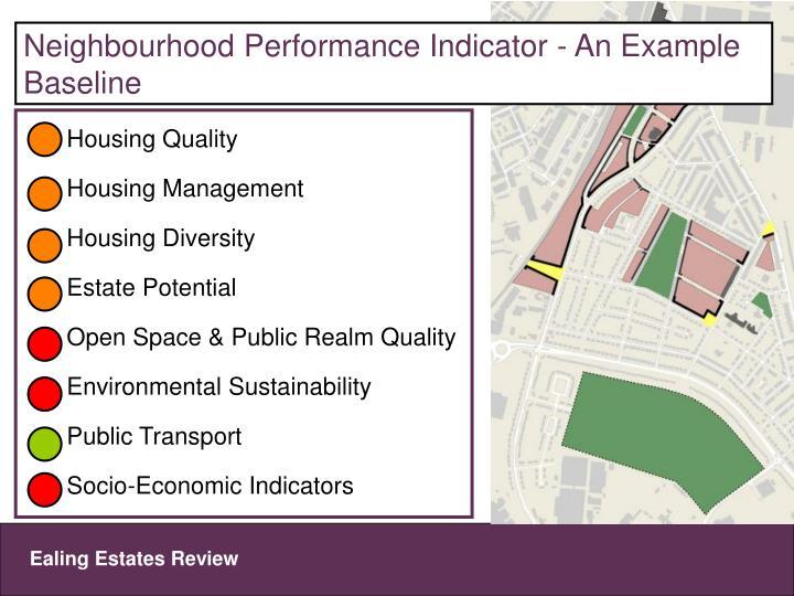 Neighbourhood Performance Indicator - An Example Baseline