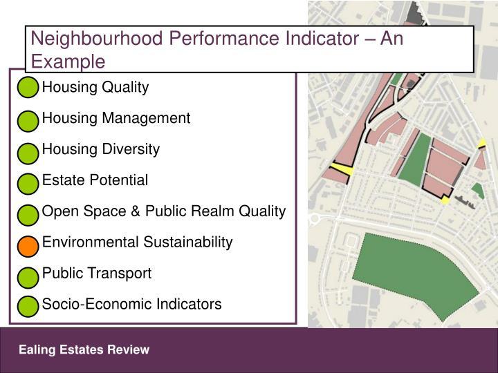 Neighbourhood Performance Indicator – An Example