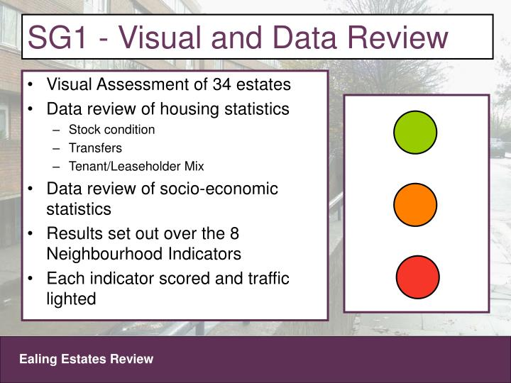 SG1 - Visual and Data Review