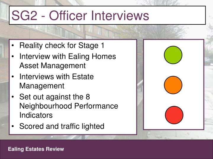 SG2 - Officer Interviews