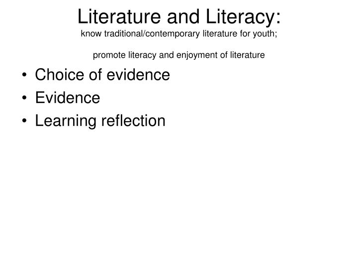 Literature and Literacy: