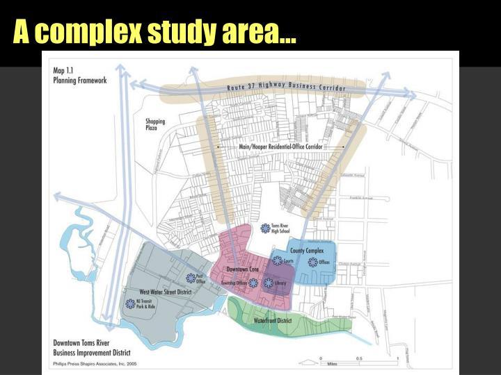 A complex study area…