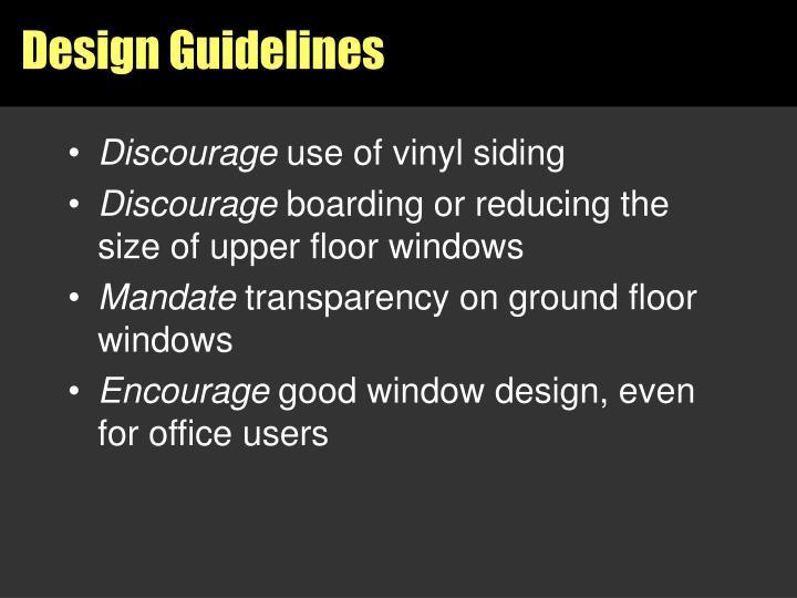 Design Guidelines