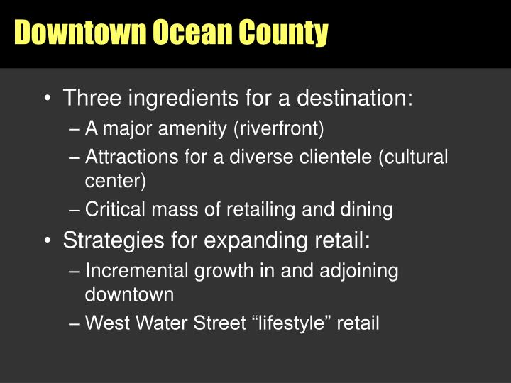 Downtown Ocean County