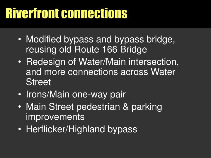 Riverfront connections
