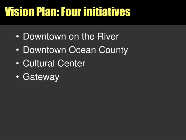Vision Plan: Four initiatives