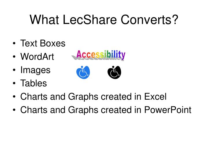 What LecShare Converts?