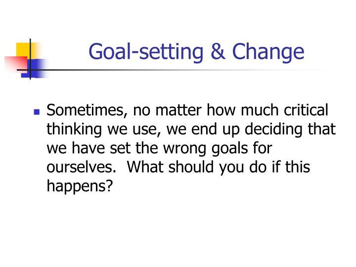 Goal-setting & Change