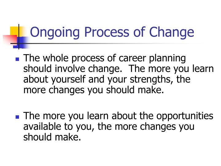 Ongoing Process of Change