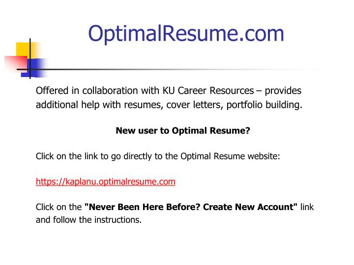 OptimalResume.com