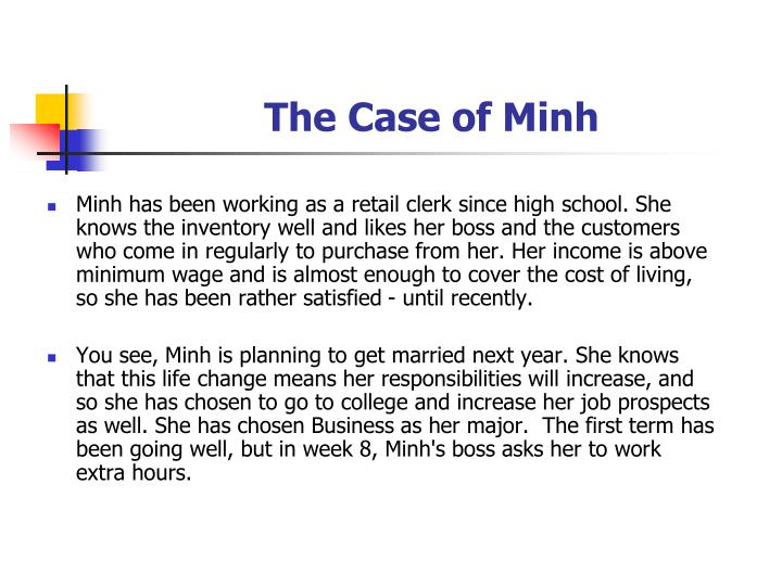 The Case of Minh