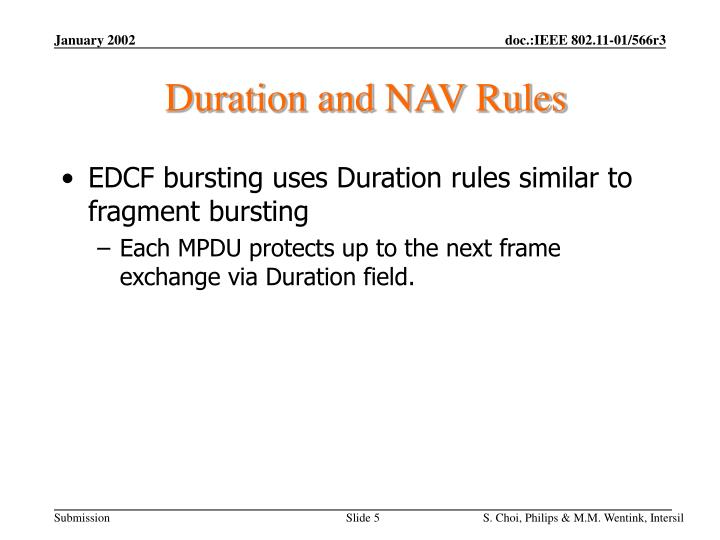 Duration and NAV Rules