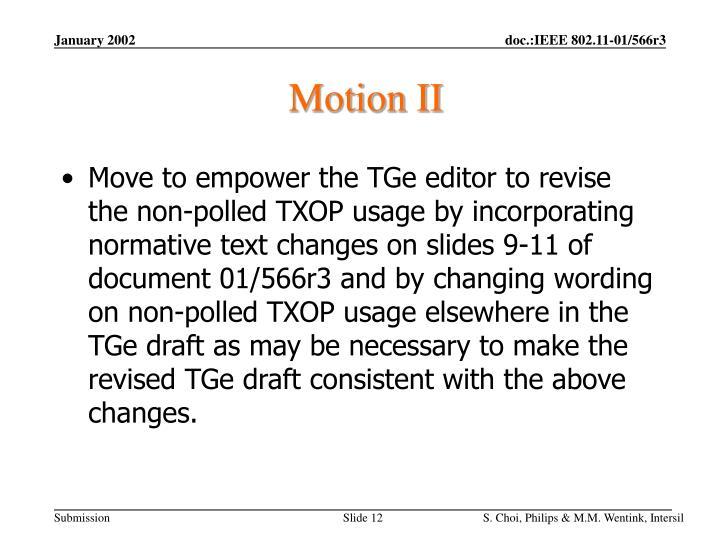 Motion II