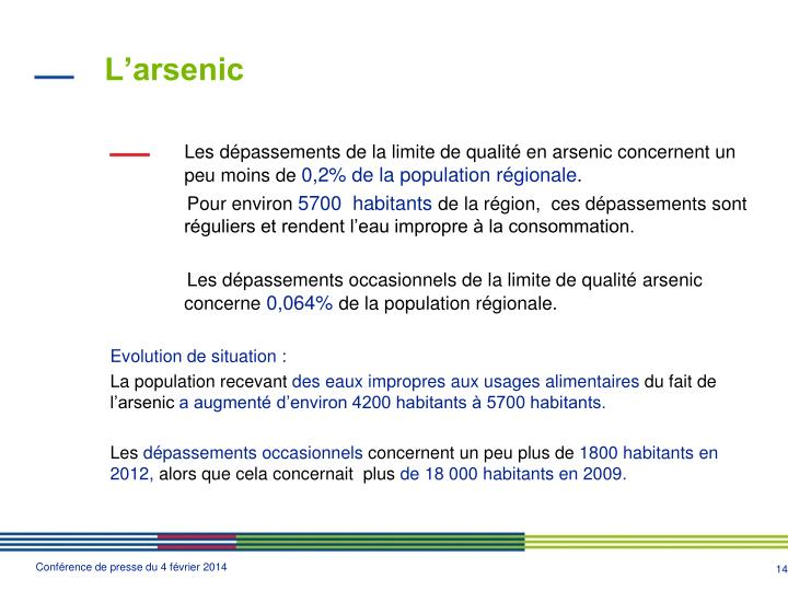 L'arsenic