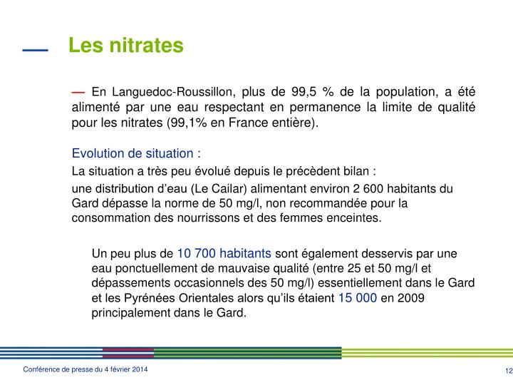 Les nitrates