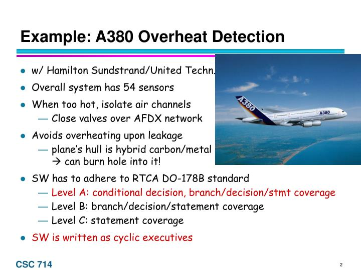 Example a380 overheat detection