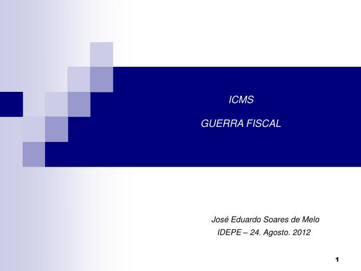 Icms guerra fiscal