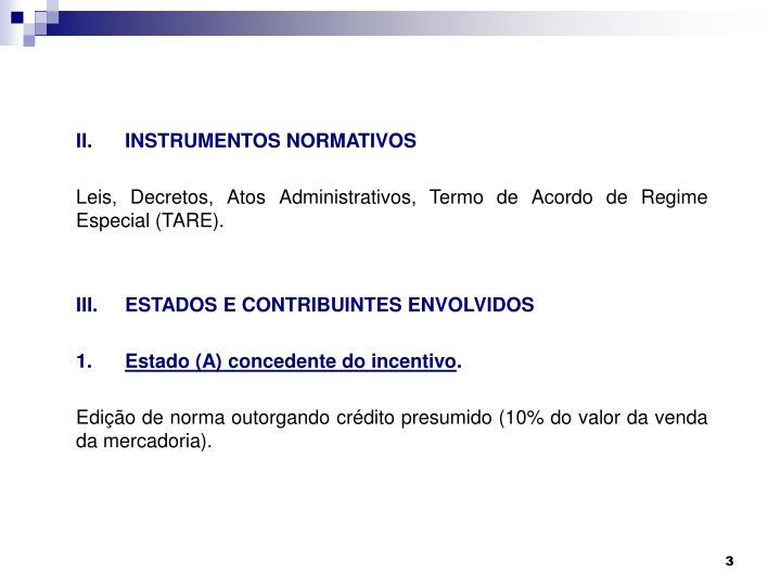 II.INSTRUMENTOS NORMATIVOS