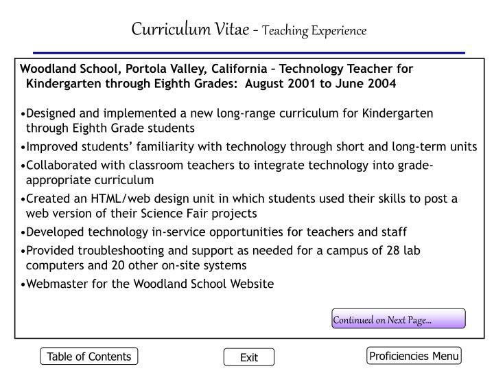 Curriculum Vitae -