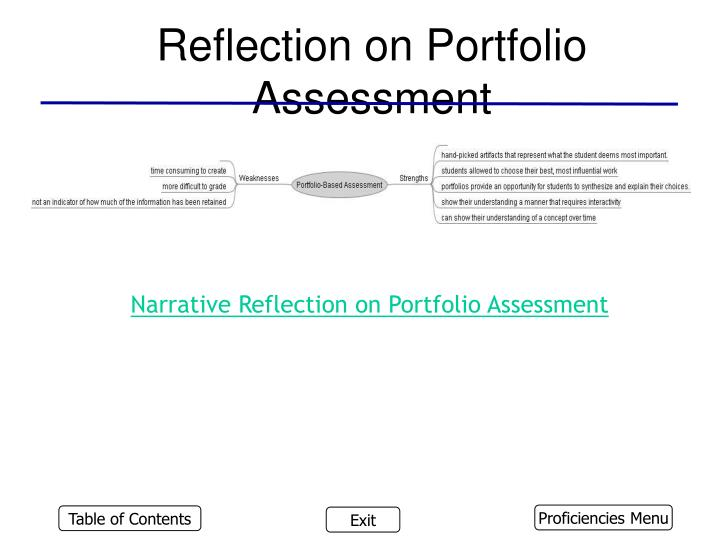 Reflection on Portfolio Assessment