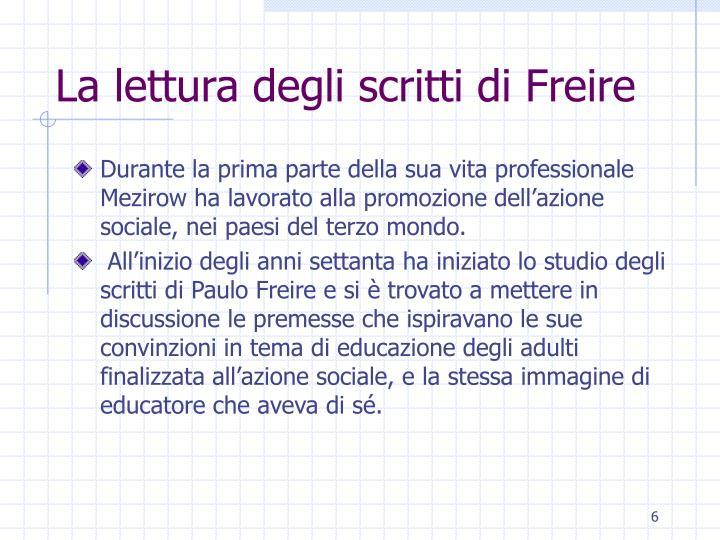 La lettura degli scritti di Freire