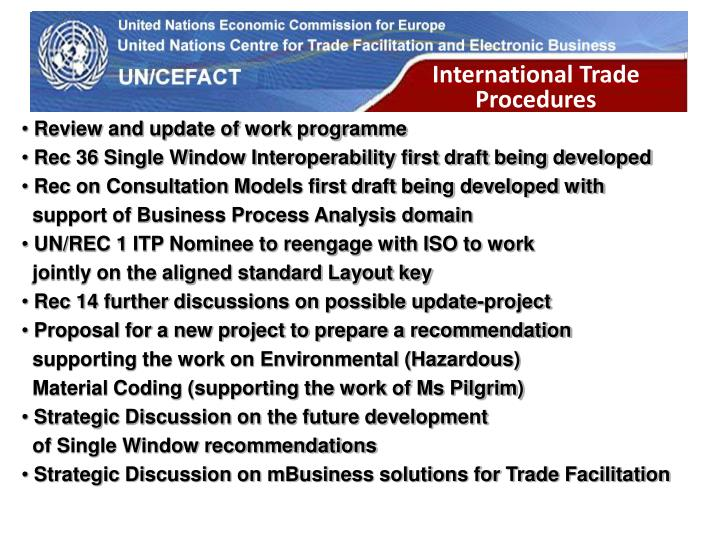 International Trade Procedures