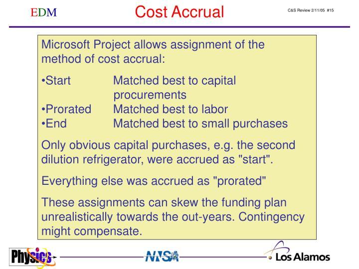 Cost Accrual