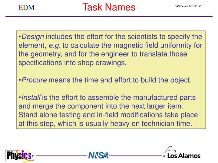 Task Names