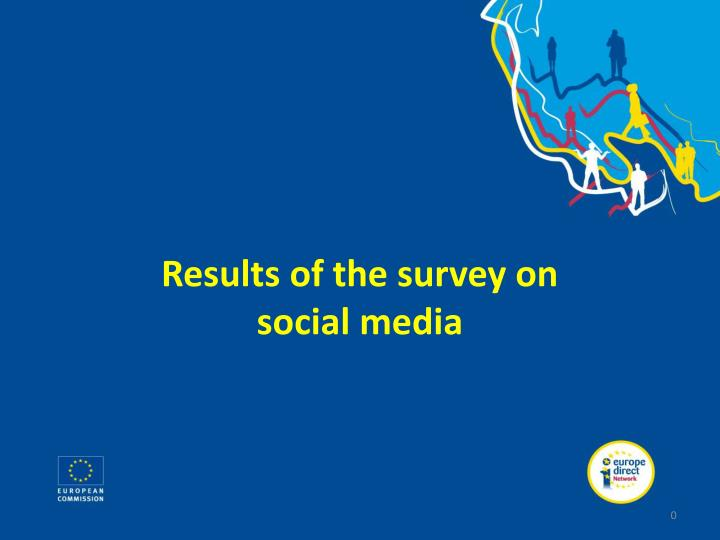 Results of the survey on social media