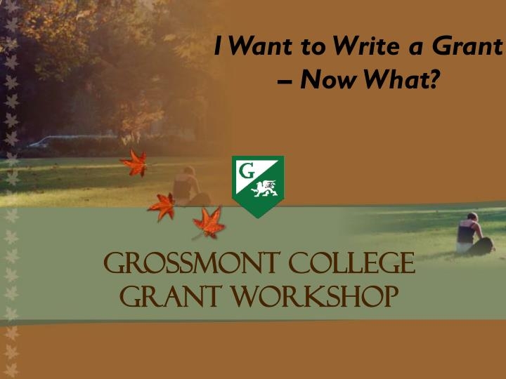 I Want to Write a Grant – Now What?