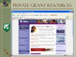 private grant resources6