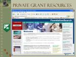 private grant resources8