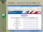 public grant resources1