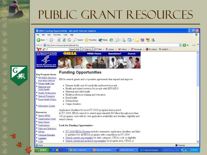 Public Grant Resources