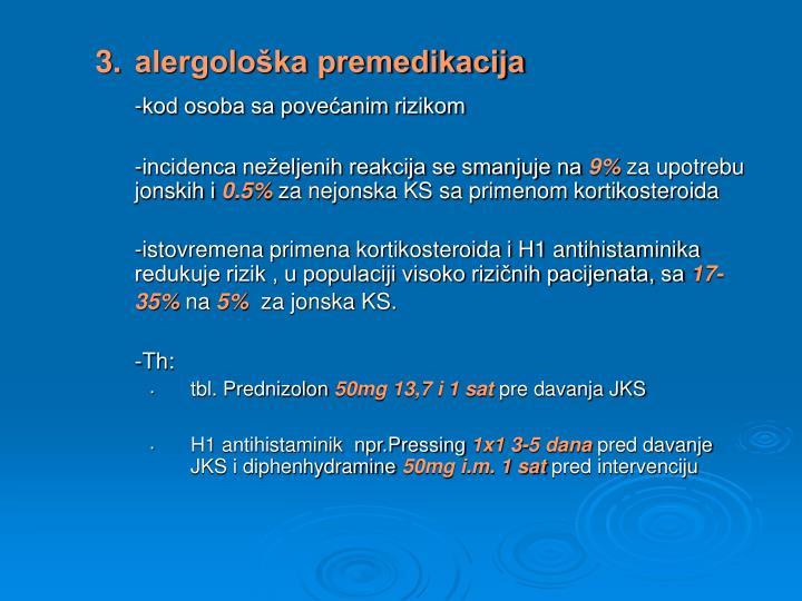 3.alergološka premedikacija