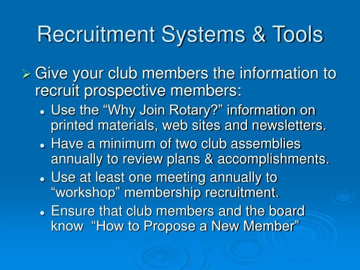 Recruitment Systems & Tools