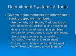 recruitment systems tools