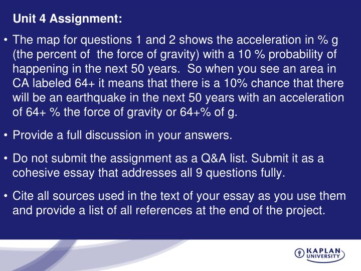 sc300 unit 4 assignment Unit 4 objectives evaluate the suitability of energy sources for human  communities formulate contextually appropriate strategies for sourcing energy  assess.