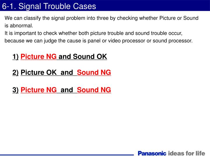 6-1. Signal Trouble Cases