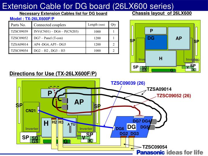 Extension Cable for DG board (26LX600 series)