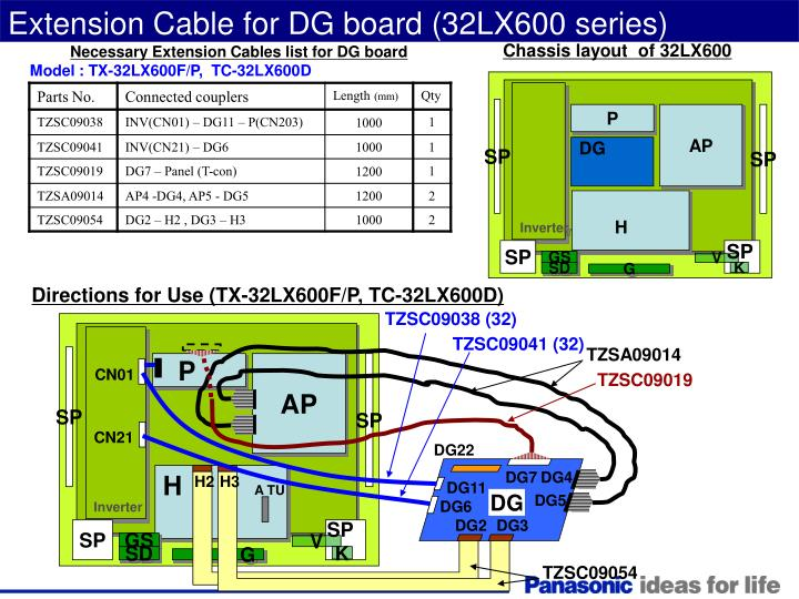 Extension Cable for DG board (32LX600 series)