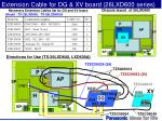 extension cable for dg xv board 26lxd600 series