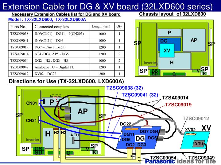 Extension Cable for DG & XV board (32LXD600 series)