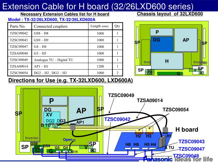 Extension Cable for H board (32/26LXD600 series)