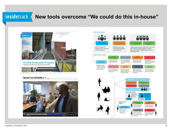 "New tools overcome ""We could do this in-house"""